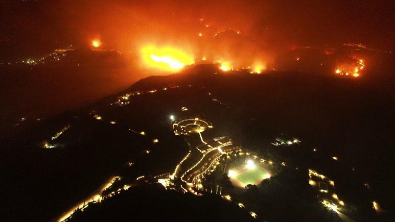 Webbplats för de första forntida OS i fara när bränder raser i Grekland